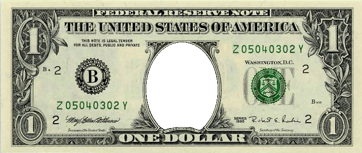picture about Printable Funny Money named US $1 Economical Festisite