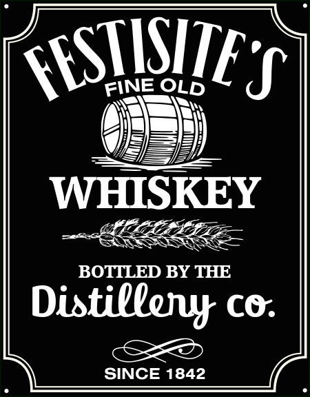 Whiskey Label Logo Festisite